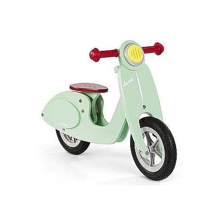 Houten loopfiets scootermodel mint Janodd