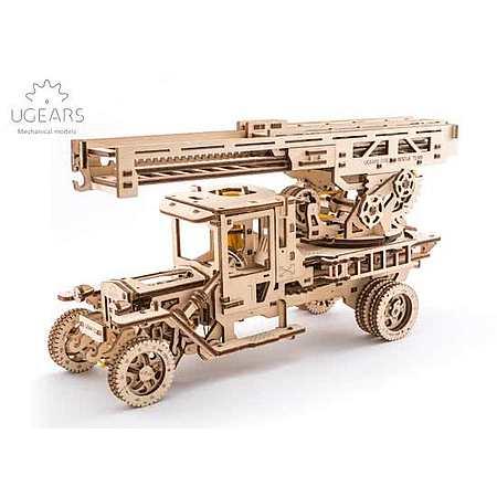 Houten model brandweertruck