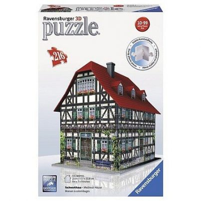 Puzzel middeleeuws huis